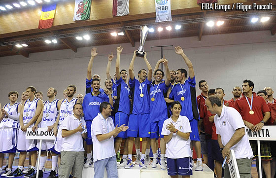 Andorra are crowned champions at the European Championship Small Countries Men 2012